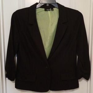 Black Blazer Suit Jacket by a.n.a.